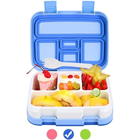 Leakproof Bento Lunch box for Kids or AdultsBentoboxBPA Free Lunch container4compartments For Kids /& AdultsLilac PurpleBonoshoppe