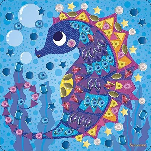 Maxi mosaïques autocollantes pour enfants - 3 tableaux créatures marines - Loisir créatif - Stick & Fun - Dès 3 ans - Sycomore - CRE7019