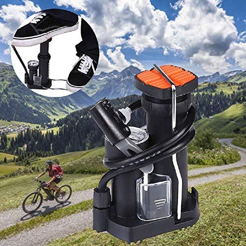 CHUTD Bike Vloer Pompen - Voet Pomp Mini Hoge Druk Elektrische Motorfiets Fiets Luchtband Opblaaspomp met Gauge