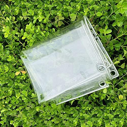 U/D Lonas Impermeables Exterior, Lonas Transparentes Lona De Plástico, Lonas para Exteriores Resistentes Al Desgarro Cubierta De Planta Resistente Al Calor Y Al Frío para Balcones,Clear,2.4x3m