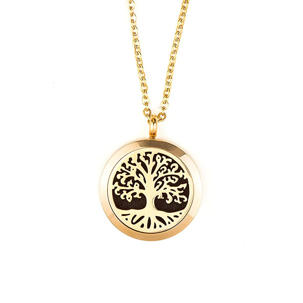 Plant Therapy Tree of Life Aromatherapy Diffuser Locket (Gold)