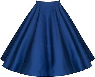 c65d16d3df48 Donna Vintage Anni 50 Gonna Vita Alta Elegante Vintage Swing Gonne A Line  Floreale Gonna