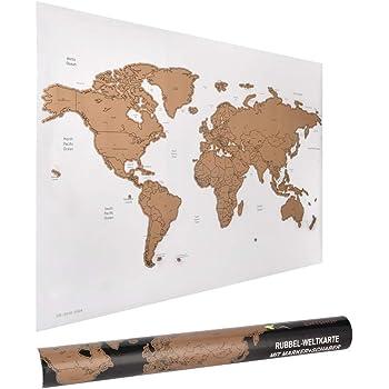 ewtshop® - Mapamundi con rascador (60 x 40 cm)