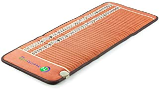 HealthyLine Heating Pad - 60in x 24in Firm - with Far Infrared Heat and PEMF Therapy - Hot Stone Tourmaline Obsidian Amethyst Gemstones