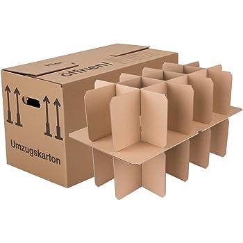 Bb Verpackungen Glaserkartons 15 30 Facher 5 Stuck Flaschenkarton 2 Wellig Mit Glasereinsatz Schmetterlingsboden 40kg Tragkraft Umzugskarton Fur Glaser Flaschen Tassen Amazon De Baumarkt