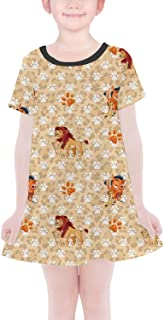 Rainbow Rules Hakuna Matata Lion King Disney Inspired Girls T-Shirt Dress