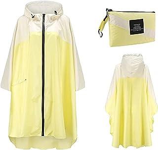 Women's One Piece Lightweight Raincoat Rain Coat Jacket Transparent Polka Dot Showerproof Outerwear for Outdoor Hiking Cam...