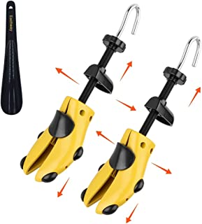 Eachway Pair of Professional 2-Way Premium Shoe Stretcher Tough Plastic Shoe Trees,Adjustable Length & Width Durable Shoe Shaper for Men and Women (Medium)