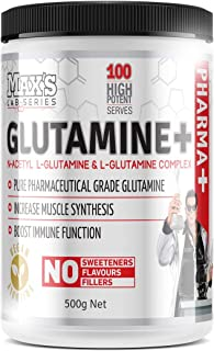 Max's Lab Series Glutamine + Anti-Catabolic and Recovery Powder, Non Flavoured, 500g