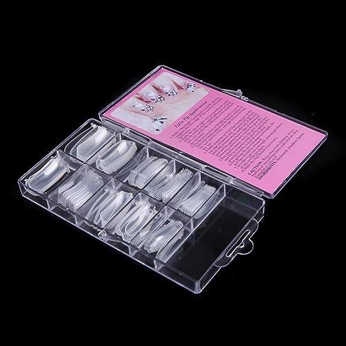 Anself 100pcs/set False Nail Tips Dual Form Nail System for UV GEL Acrylic Nail