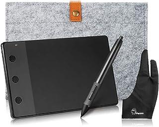 Huion H420 LED Light Pad 4*2.23インチ 携帯式アートデザイングラフィックス描画タブレット デジタルタブレット スタイラスペン+10インチウールライナーバッグ+2指グローブ+USBケーブル+4交換用ペン先など付き ペ...