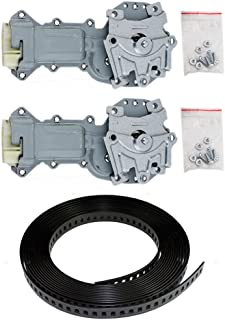 2 Piece Set Power Window Regulator Motor with 54 Black Plastic Repair Tape Replacement for 81-90 Ninety-Eight 20591996 24015712