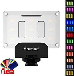 Aputure AL-M9 w Free 12 Transparent Color Filter, Amaran LED Mini Light on