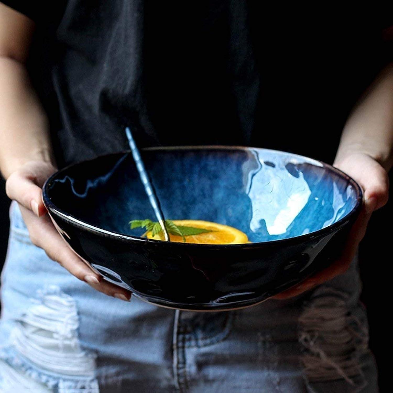 YOIL Bols Individuels Salade de fruits, bol de pates, soupe RaHommes, nouilles, bol, bol à mélanger, bol de service, vaisselle en céramique créative allant au micro-ondes, sans danger pour le micro-ondes