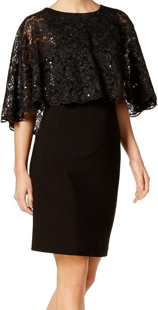Jessica Howard Women's Lace Capelet Sheath Dress