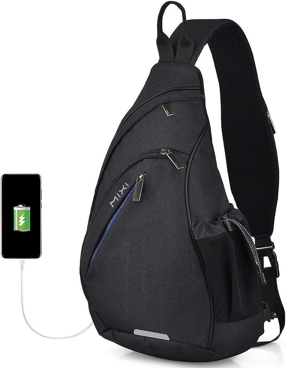 Hanke Sling Bag Men Backpack Trav Ranking TOP4 OFFicial Hiking Shoulder Unisex One