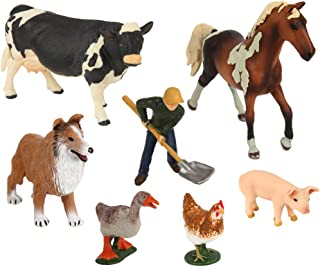 Ericoo High Simulation Farm Animals Toys Sets Educational Resource High Simulation Farm Animals Toys with CPC Approval and ASTM Test-Anim003