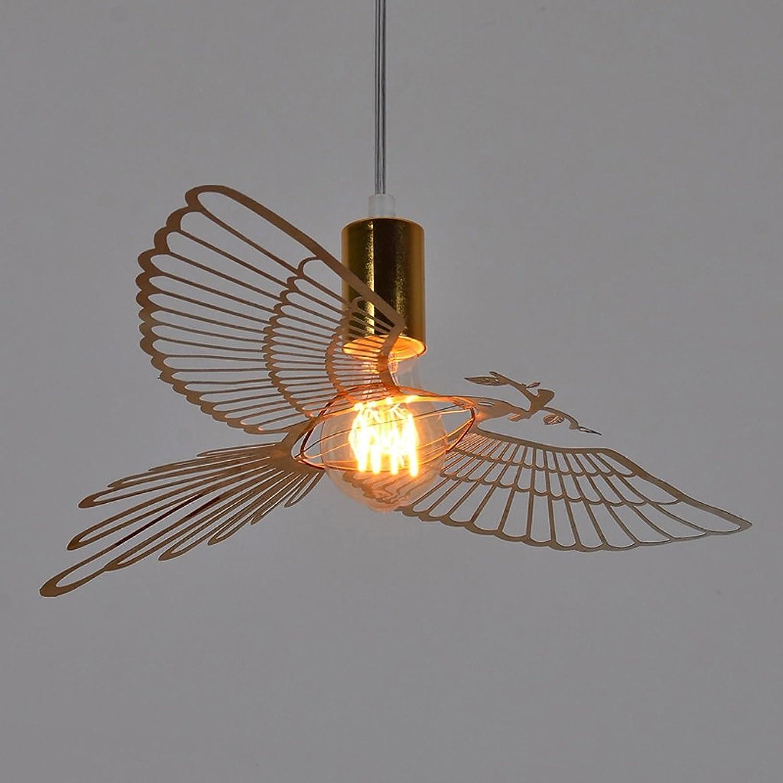 Fu Man Li Trading Company Einfache moderne Edelstahl Gold Vogel Kronleuchter Nordic Restaurant personalisierte kreative Eisen Kronleuchter A+