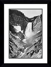 Framed Wall Art Print Yellowstone Falls, Yellowstone National Park, Wyoming. ca. 1941-1942 by Ansel Adams 21.62 x 28.62