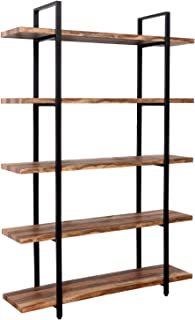 IRONCK Bookshelf and Bookcase 5-Tier, 130lbs/shelf Load Capacity, Industrial Bookshelves Home Office Furniture, Wood and Metal Frame …