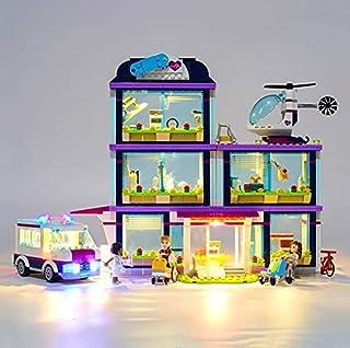 LED Lighting Kit for (Girl Heart Lake City Hospital) Building Blocks Model - Led Light Kit Compatible with Lego 41318 (NOT...