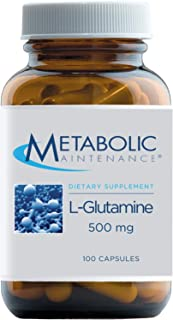 Metabolic Maintenance L-Glutamine - 500mg Pure Amino Acid Supplement - Support for Gut + Intestinal Health, Immune Functio...