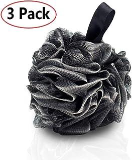 3 Pack Esponja de ducha de baño JollyJelly Malla de baño Loofahs Doble malla de cepillo de depurador corporal para mujeres Los hombres exfolian la piel limpia calmar la piel (60g/PCS)