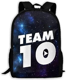 Team 10 Casual School Bag Backpack Multipurpose Travel Daypack For Women & Men