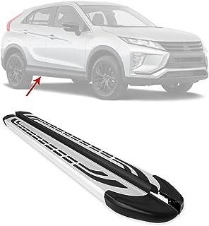 OMAC Acessórios exteriores de automóveis, trilho de degrau | pranchas de corrida pretas e prateadas de alumínio, 2 peças....