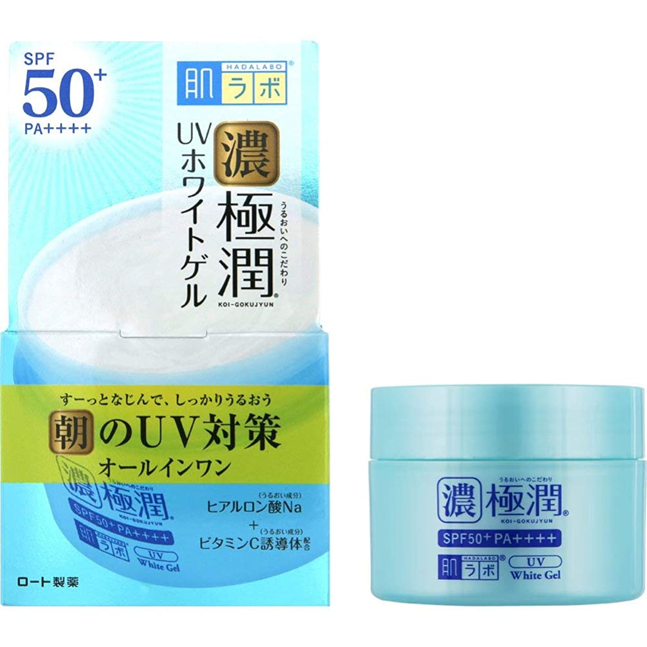 無能リーダーシップ風味肌ラボ 極潤 UVホワイトゲル (SPF50+ PA++++) 90g