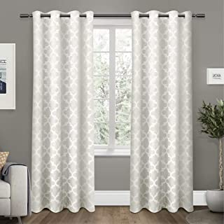 Exclusive Home Cartago Insulated Woven Blackout Grommet Top Curtain Panel Pair 54x108 EH8104-01 2-108G
