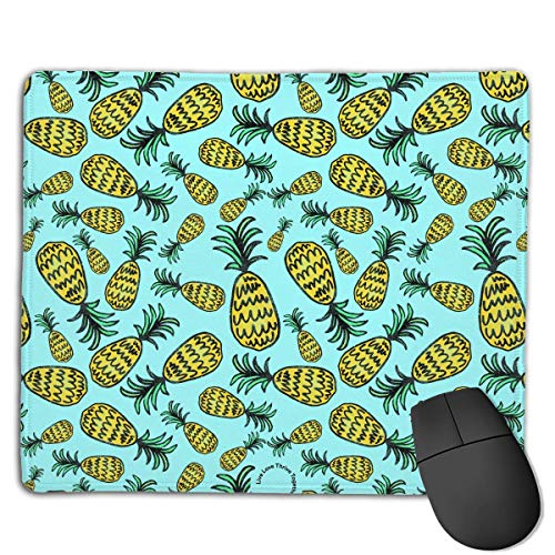Gaming-Mauspad, Mauspads Cute Yellow Pineapple Seamless Illustration Rectangle Rubber Mousepad Gaming Mouse Pad 9.8x12 Inch for Notebooks,Desktop Computers