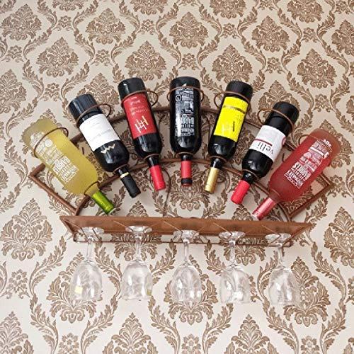 Estantería de vino Colgando del hierro estante del vino Negro / bronce / blanco de doble pared estante del vino vino rack único Asamblea fácil de ahorrar 3 colores opcionales - / estante de vi