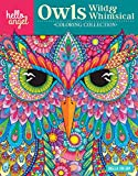 Hello Angel Owls Wild & Whimsical Coloring Collection (Design Originals) 32 Beautiful, Ornate Owl Designs, 16-Page Artist's Guide with Helpful Tips & Tricks, and 9 Fully Colored Pieces for Inspiration