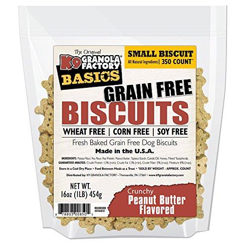 K9 GRANOLA Basics Grain Free, Wheat Free, Corn Fee & Soy Free Small Buscuits (Crunchy Peanut Butter)