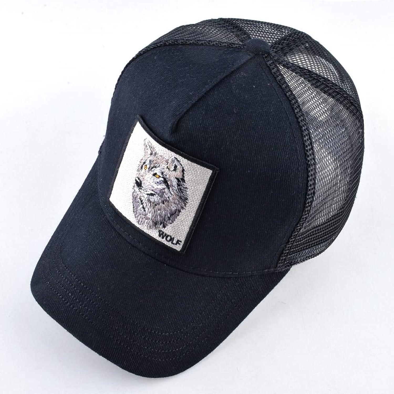 AAMOUSE Baseball Cap Men's Snapback Caps Summer Breathable Baseball Cap Women Cool Streetwear Wolf Embroidery Trucker Bones Unisex Hip Hop Hats Male