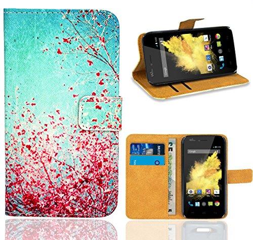 FoneExpert® Wiko Birdy Handy Tasche, Wallet Hülle Flip Cover Hüllen Etui Ledertasche Lederhülle Premium Schutzhülle für Wiko Birdy