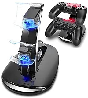 Microware Charging Dock For PS4 Gamepad Quick Dual USB Charging Dock Stand Charger For PlayStation4 PS4 Gamepad Charger Accessoriess