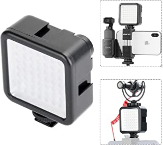 ULANZI W49 Pocket LED Video Light with 3 Cold Shoe Mounts 49 LED Bulbs Vlog Photo Fill Light on Camera for DJI OSMO Pocket Sony A6400 A6300 Canon DSLR Cameras Wedding Interview Macrophotography