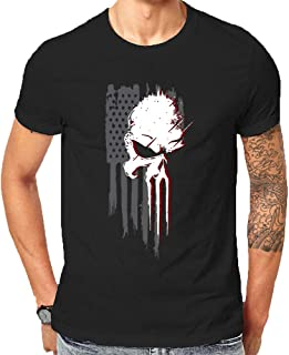 Super Hero Punisher Inspired Tops Stan Lee Memorial Gift Xmas Comic Con Fanboy for Friends and Family