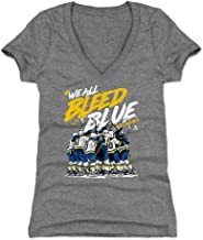 500 LEVEL St. Louis Women's Shirt - St. Louis Hockey Shirt for Women - St. Louis Hockey Bleed Blue