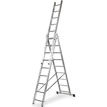WORHAN® Escalera 587cm Aluminio Telescopica 5.87m Multifuncion ...
