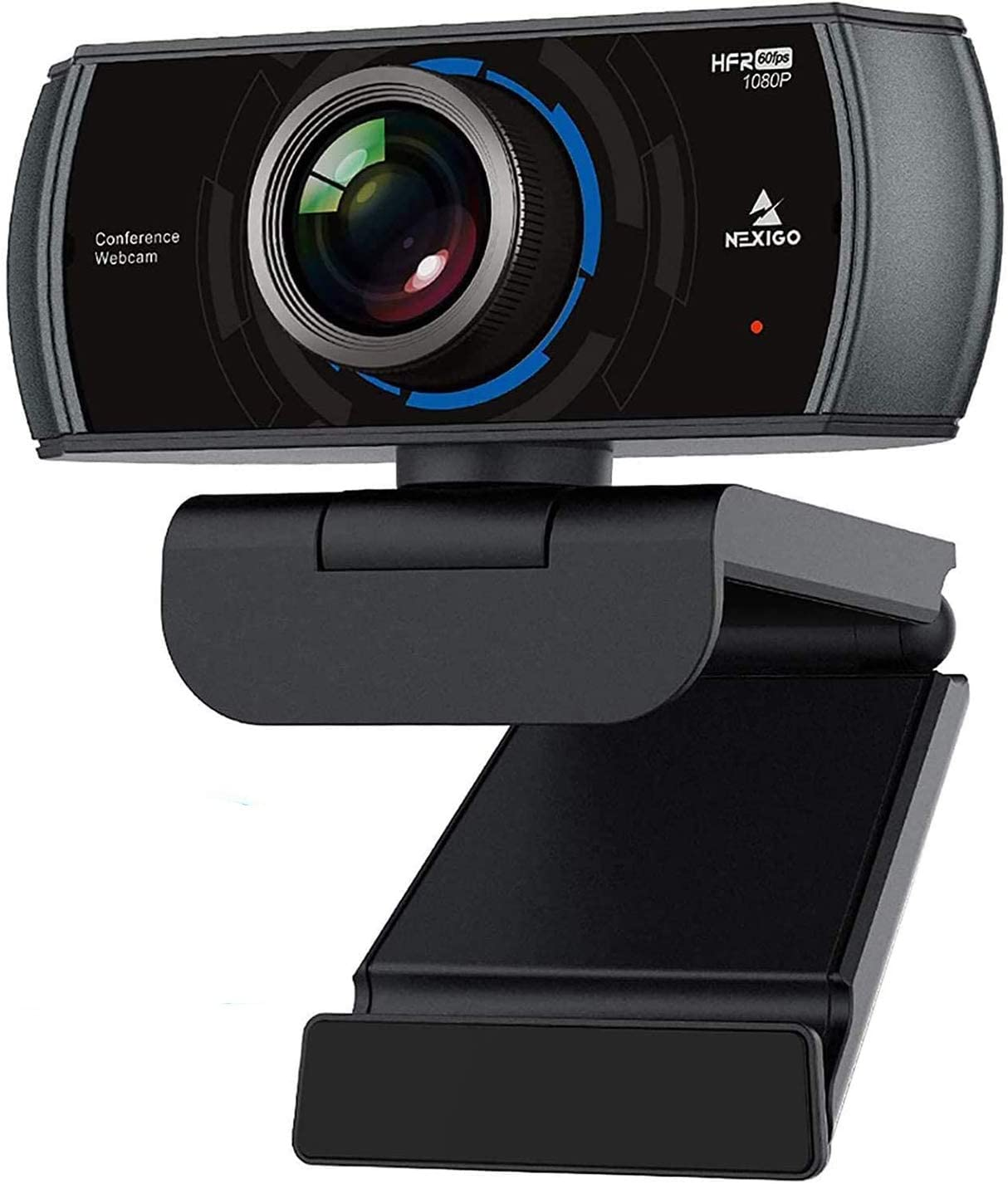 1080P 60FPS Webcam with Microphone, 2021 NexiGo N980P HD USB Computer Camera, Built-in Dual Noise Reduction Mics, 120 Degrees Wide-Angle for Zoom/Skype/FaceTime/Teams, PC Mac Laptop Desktop: Computers & Accessories