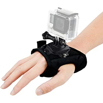 Wrist Strap Mount 360 Degree Panoramic Swiveling Glove Style Hand Mounts Strip Belt with Screw for GoPro Hero 8 7 6 5 4 Black Session, DJI OSMO Action, Xiaoyi, AKASO Camera Accessories