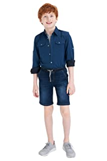 DeFacto Flap Pockets Roll-Up Long Sleeves Denim Shirt for Boys
