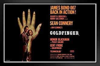 Pyramid America James Bond Goldfinger Sean Connery Secret Agent 007 Spy Movie Goldfinger Hand 14x20 inches Black 43021