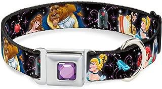 Buckle-Down Seatbelt Buckle Dog Collar - Disney Princesses & Prince's Dancing