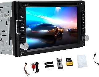 GPS Navigation Steering Wheel Control 2 Din Car DVD CD Player Stereo Radio Video Bluetooth 6.2 Inch Touch Screen AM FM RADIO USB In dash Headunit