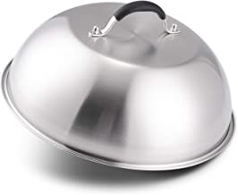 12 Inch Heavy-duty Cheese Melting Dome - 18/8 Stainless Steel Griddle Grill Accessories - Durable Round Basting, Steaming Cover - Heat Resistant Handle for Flat Top Griddle Grill Indoor/Outdoor