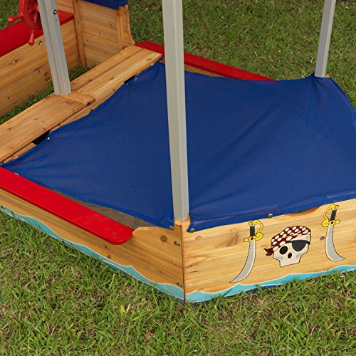 KidKraft-128-Pirate-Sandboat-Wooden-Outdoor-Garden-Sandbox-for-Children-Kids